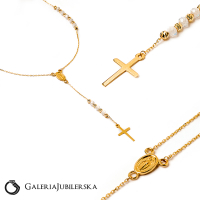 14k gold rosary necklace from manufacturer