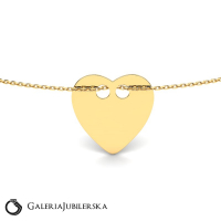 Gold bracelet with flat shiny heart to engrave