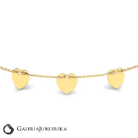 Gold three charms anklet wholesale prices