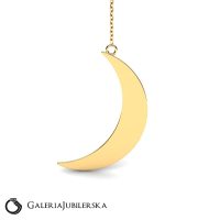 14k gold moon necklace from moonlight collection