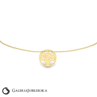 8k yellow gold bracelet with tree of life