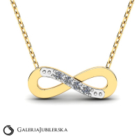 8k gold necklace with zirconia encrusted infinity