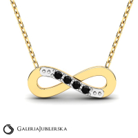 8k gold necklace with zirconia encrusted infinity (1)