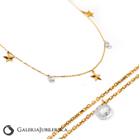 14k gold choker necklace with stars