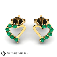 14 karat gold heart earrings with zirconias (1) (1) (1)