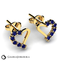 14 karat gold heart earrings with zirconias (1)