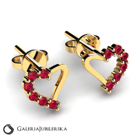 14 karat gold heart earrings with zirconias (1) (1)