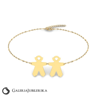 Gold boy and girl bracelet to engrave (1)