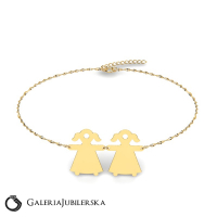 Gold boy and girl bracelet to engrave (1) (1)