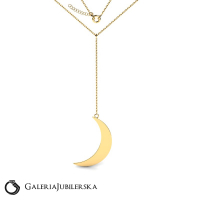 8k gold moon necklace from moonlight collection
