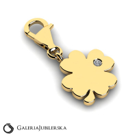 Gold four leaf clover charm to engrave