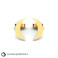 Gold moon stud earrings moonlight collection