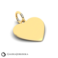 Gold heart pendant free engraving