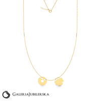 14k gold necklace with two charms to engrave
