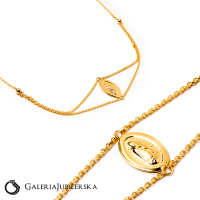 14k gold necklace with Our Lady choker