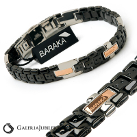 18 karat gold and steel men's baraka bracelet