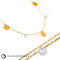 14k gold choker necklace with sparkling beads