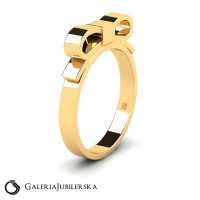 Gold ribbon bow ring candy collection